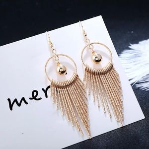 Beautiful Gold Tone Big Earrings